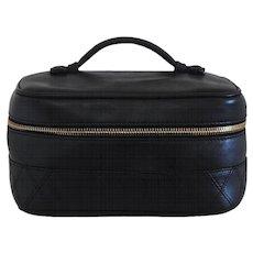 1994-1996 Chanel Black Leather Beauty Case