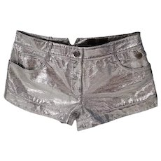 2000s Alexander McQueen MCQ Silver Shorts