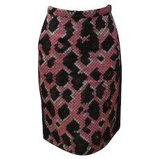 2000s Balenciaga Python Stamp Skirt
