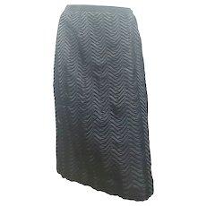 2000s Dolce & Gabbana Black Silk Skirt NWOT
