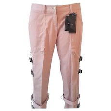 2000s Dolce & Gabbana pink pants with straps NWOT