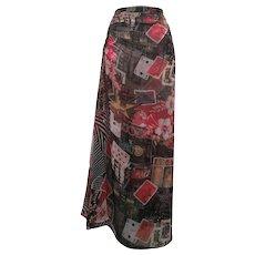 2000s Roberto Cavalli Freedom multi skirt