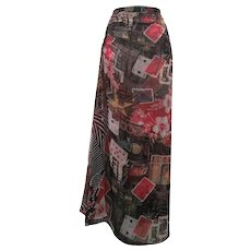 2000s Roberto Cavalli Freedom multi skirt