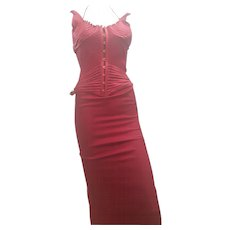 2003s Gucci Iconic Red Long Dress by Tom Ford