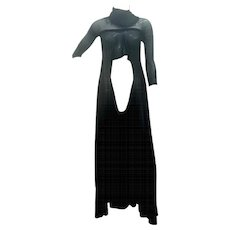 2003 Alexander McQueen Museum Piece See throught Black net Dress