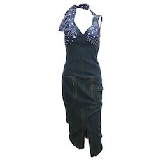 2005 denim and polkadots John Galliano dress