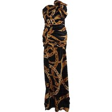 2016s Moschino Boutique sold out Long Dress Gold Chain NWOT