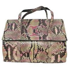 90s Chanel python skin bag