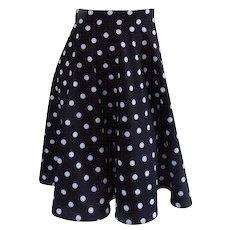 Black white pois Skirt
