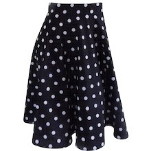 Black white pois Skirt