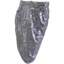 Blumarine silver sequins skirt