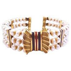 18kt Gold Bracelet with Pearls
