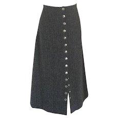 Dolce & Gabbana grey wool skirt