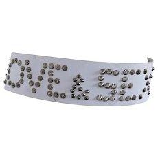 Dolce & Gabbana white belt