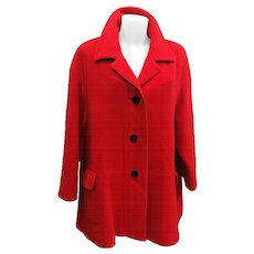 Escada by Margaretha Ley Wool Red Coat