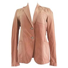 Fendi FF Logo Pink Cotton Jacket