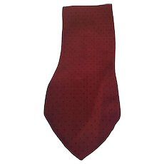 Fendi bordeaux Black pois vintage tie