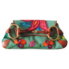 Gucci by Tom Ford Embroided horsebit bag