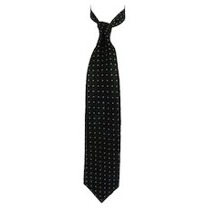Hugo Boss Green Pois Silk Tie