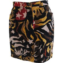Iceberg Zebra multicolour cotton skirt