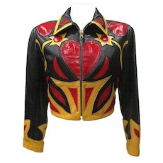 Iconic Museum Piece Moschino Leather Patchwork Jacket