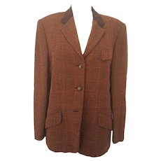 1980s Escada brown jacket in wool