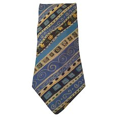 Kenzo multicolour blu vintage tie