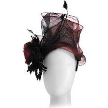 Kreisi Couture Bordeaux Black Hat