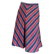 Light Blu and red long skirt