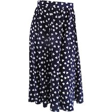 Long Blu white hearts Skirt
