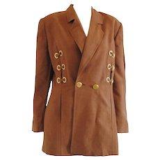 Louis Féraud Brown Gold hw Jacket