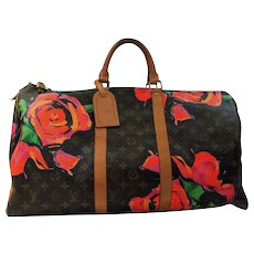 Louis Vuitton Stephen Sprouse Roses Keepall 50