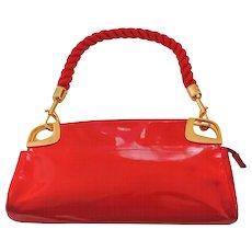 Love Moschino Red Carpet Varnish Red Leather Shoulder Bag