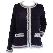 Luisa Spagnoli Blu Wool Jacket