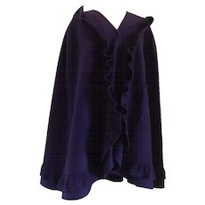 Mila Schon Purple Wool Cape