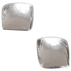 Monet Silver tone Clip on earrings