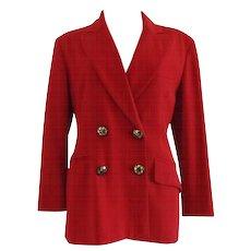 Moschino Cheap & Chic Red Wool Jacket