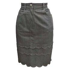 Moschino Jeans Grey Cotton Skirt
