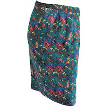 Multicolour Vintage silk skirt