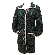 M by Missoni Green Pink Wool Coat