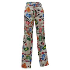 "Moschino Iconic Collection ""Moschinopoly"" Print trousers"