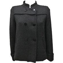 Red Valentino Virgin Wool Grey Coat