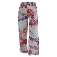 Roberto Cavalli multicolour Flowers Cotton Jeans