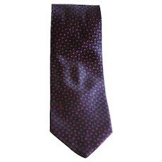 Trussardi Blu red pois vintage tie