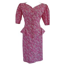 Ungaro Solo Donna Paris White pink flower dress