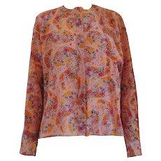 Ungaro Solo Donna Paris Wool Flower Shirt