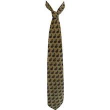 Valentino Yellow Gooses Silk Tie