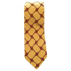 Valentino yellow silk Tie
