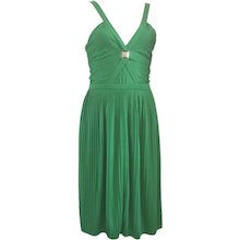 Versace Collection Green jersey dress