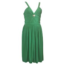 Versace Collection Green jersey dress